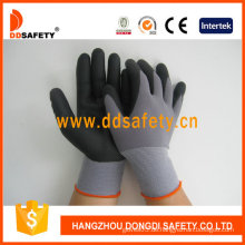 Schwarz Nylon Schwarz Nitril Schaum Handschuh-Dnn151