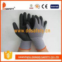 Black Nylon Black Nitrile Foam Glove-Dnn151