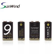 Reemplazo de batería de 9V USB instrumento musical versión 1000mah