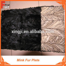 Reasonable Price Back Paw style Mink Fur Plate