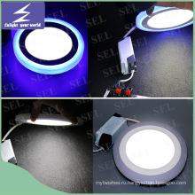Потолочные светильники 2 цвета 6W 9W 16W 24W Свет панели с Ce RoHS