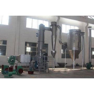 Spin flash dryer for silica powder
