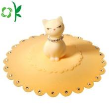 Accesorios de café de silicona con forma de gato Dink Cup Tapas