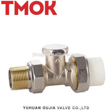 Brass return water PPR radiator propane angle temperature control valve
