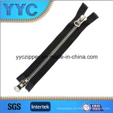 8 # Two Way Open Slider Metal Zipper para sacos