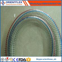 """Raio de curvatura pequeno 1/4 """"- 8"""" mangueira reforçada fio de aço do PVC"""
