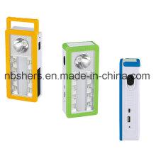 3 функции Солнечная светодиодная лампа аварийного освещения с USB-выходом