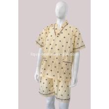 100% Cotton Spa Suites Printed Cloth Hotel Bathrobe