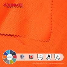 Tissu ignifuge permanent de coton de prix concurrentiel pour des vêtements de vêtements de travail