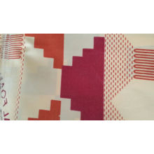 32x32 + 40D / 190 * 80 200 gsm 142 cm marinha duplo algodão stretch cetim tecido de algodão chino impresso tecido flor
