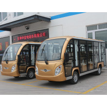 14 Seats Sightseeing Classic Shuttle Intelligent Pulse Charger Enclosed Electric Sightseeing Car with Ce SGS Certificate