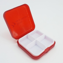 10 Years for Medicine Vitamins Container Detachable Tray 4 Grid Pocket Pill Box supply to China Taiwan Wholesale