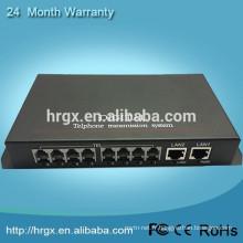 Le plus bas prix et haute qualité Audio To Fiber Converter 8 Canal Téléphone Optique Convertisseur