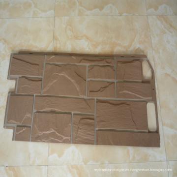 paneles de pared de piedra de plástico molde de inyección de plástico