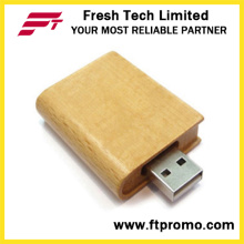 Eco-Friendly bambu & madeira livro Flash Drive USB (D825)