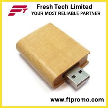Eco-Friendly Bamboo & Wood Book USB Flash Drive (D825)