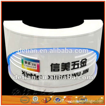 Shanghai big brand high quality,factory price portable and free design painting wood reception desk