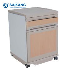 Armário plástico da cabeceira da mobília do quarto do hospital SKS008