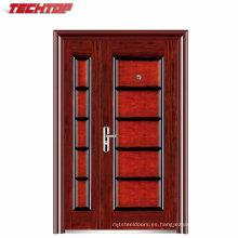 Diseño de la puerta de seguridad del hierro de la puerta del acero de la seguridad del frente del precio al por mayor de TPS-030sm para el apartamento