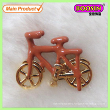 New Arrival Metal Gold Cute Enamel Bicycle Charm Wholesale