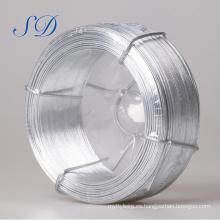 Alambre plano de acero galvanizado de alta calidad de 2.7 milímetros 0.22mm para cercado