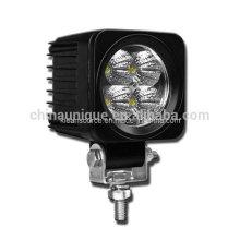 12W luzes LED quadradas de trabalho para tratores e veículos
