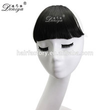 Deniya hot selling top quality synthetic fringe easy clip in neat bang
