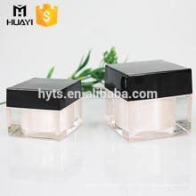 30g 50g 80g cosmético creme quadrado acrílico jar