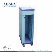 AG-CHT006 CE ISO with wheel plastic hospital medical patient file trolley