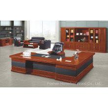 Mobilier de bureau exécutif classique en bois massif L en forme de bureau (HF-YTA99)