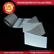 High intensity holes reflective T/C fabric