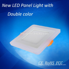 5W 9W 16W 24W bule & white double color LED celing panels light 145x145