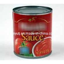 Molho de tomate em conserva com alta qualidade