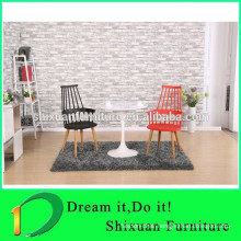 comfortable wood legs plastic dining chairs