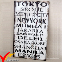 Shabby Chic Rusty Antique Wording Holz Plaque