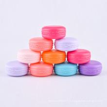 emballage cosmétique 10g macaron couleur vide en plastique crème pot