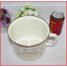 Taza de leche personalizada de fábrica de esmalte