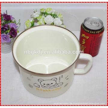Fabrik direkt angepasste Emaille Milch Becher