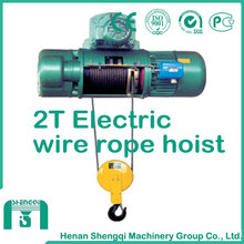 Hb Model Explosion Proof Wire Rope Electric Hoist 2 Ton