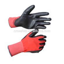 NMSAFETY EN388 4131X pu enduit des gants noirs
