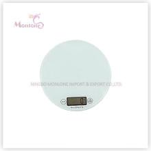 5 kg de vidro + ABS Plastic Kitchen Electronic Scale (18,5 * 18,5 * 1,6 centímetros)