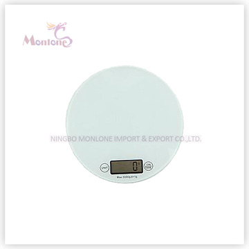 5kg Glass+ABS Plastic Kitchen Electronic Scale (18.5*18.5*1.6cm)