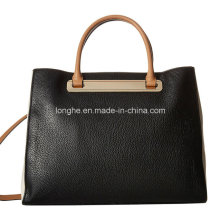 Large Capacity PU Leather Ladies Shopper Bag (ZXS0123)