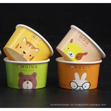 taza de papel desechable de la bebida de la taza de la torta de la taza del helado de los niños DIY