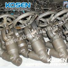 Válvulas de globo de acero forjado sellado de presión tipo Y