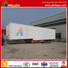 3 eixos 17,5 asas longas do veículo do medidor abrem o tipo reboque da carga do recipiente de Van