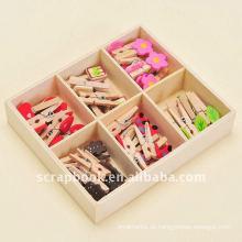 Büroklammer aus Holz Clip aus Holz Büroklammern Mini hölzernen Clips Clips
