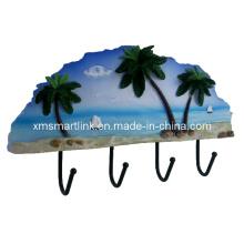 Crochet de fixation souvenir à la mer, crochet suspendu en résine