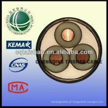 Grade do estado 35kV XLPE isolou o cabo da prova do fogo do cabo de poder de 3 * 300sqmm