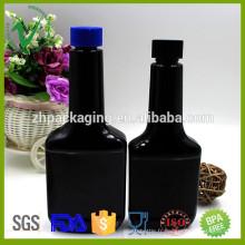 2016 nouveaux produits 300 ml carré noir bouteille en plastique vide pour l'emballage d'huile